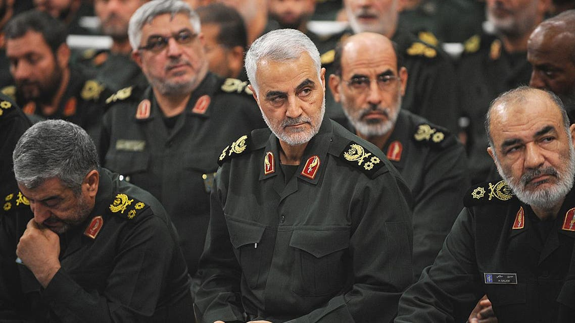 Iranian Quds Force commander Qassem Soleimani (C) attends Iranian supreme leader Ayatollah Ali Khamenei's (not seen) meeting with the Islamic Revolution Guards Corps (IRGC) in Tehran, Iran on Sept. 18, 2016. AFP