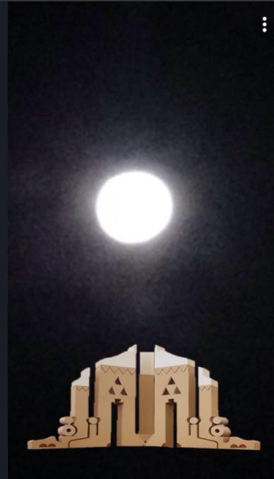 القمر العملاق في زلفي في السعودية، حسب ما نقله أحد رواد مواقع التواصل