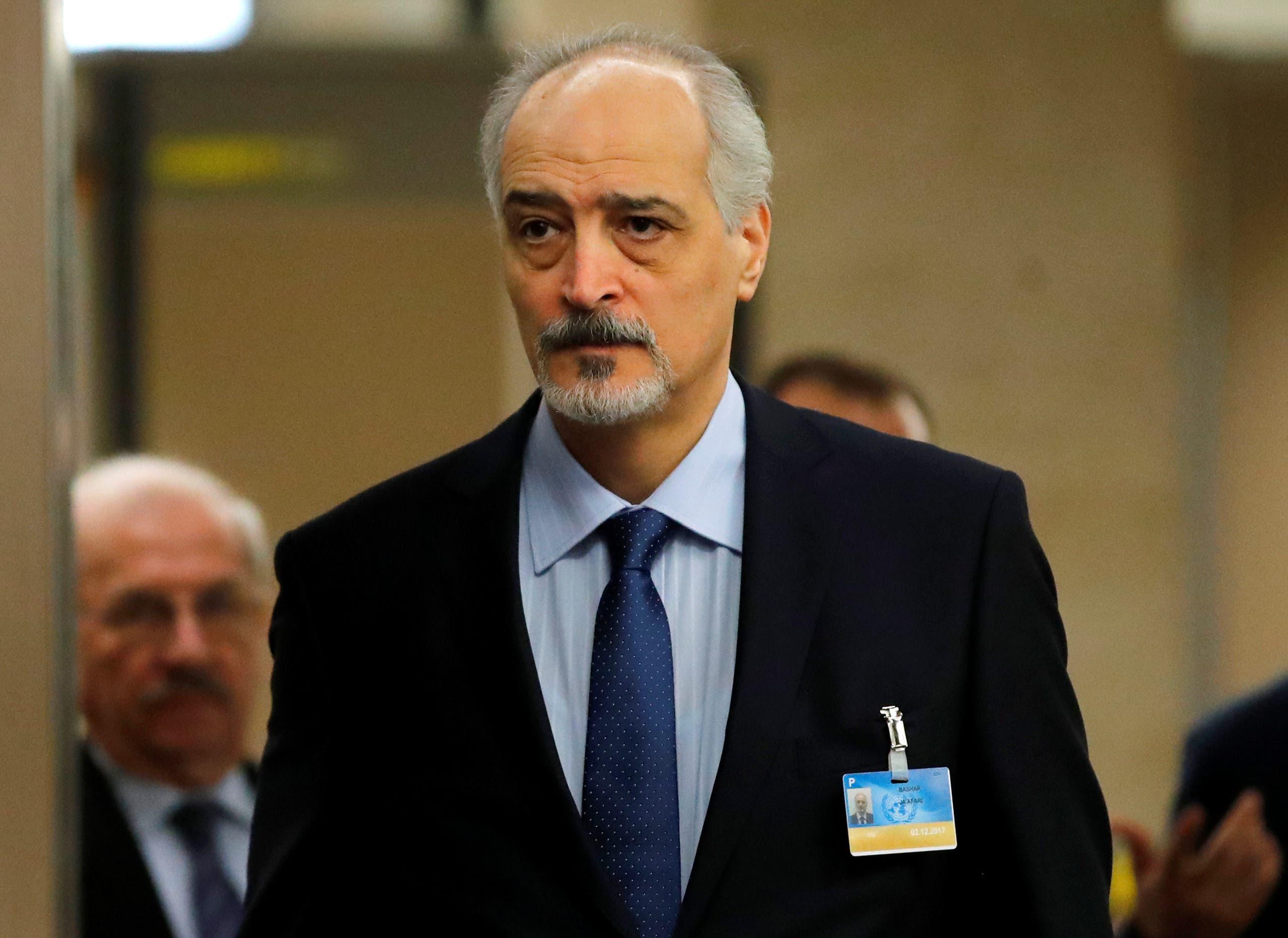 بشار الجعفري رئيس وفد النظام السوري في جنيف 8