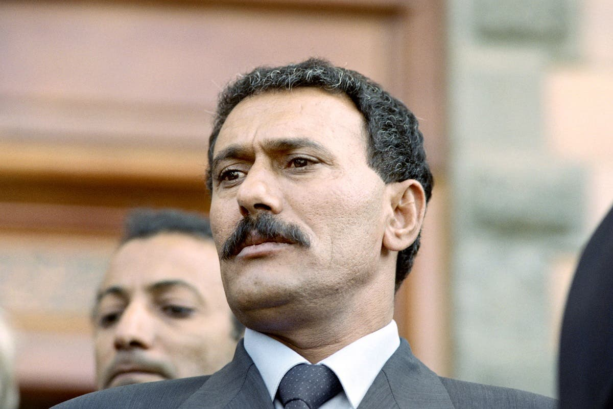 Picture released on November 1, 1991 of Yemeni President Ali Abdullah Saleh in Sanaa. (AFP)