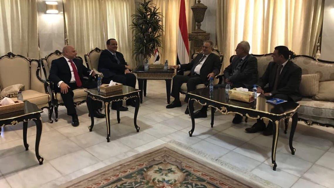 المخلافي و المبعوث الأممي - اليمن