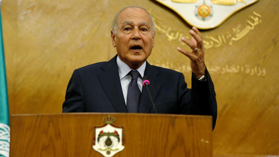 Secretary General of the Arab League Ahmed Aboul Gheit speaks during a joint news conference with Jordan's Foreign Minister Nasser Judeh in Amman, Jordan, November 2, 2016. REUTERS