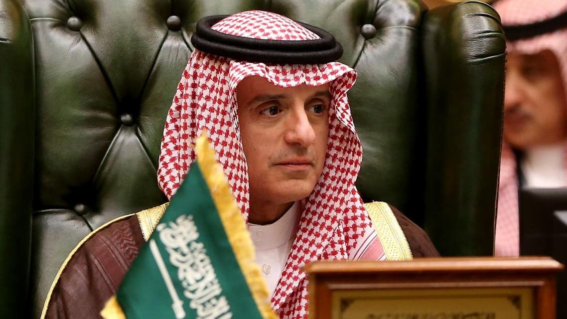 A picture taken on December 4, 2017 shows Saudi Foreign Minister Adel al-Jubeir attending the meeting of the Gulf Cooperation Council (GCC) of foreign ministers at the Bayan palace in Kuwait City. (AFP)