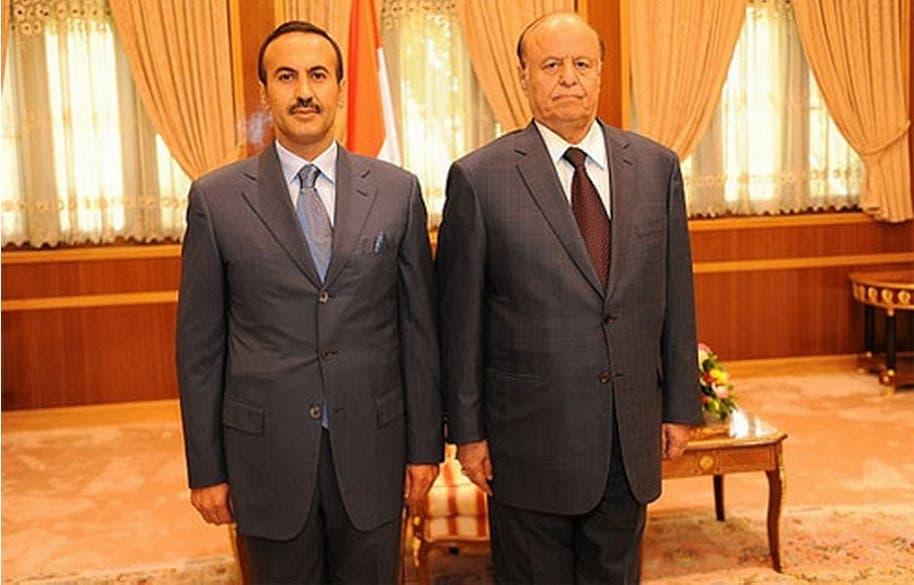 في صنعاء مع الرئيس اليمني عبد ربه منصور هادي