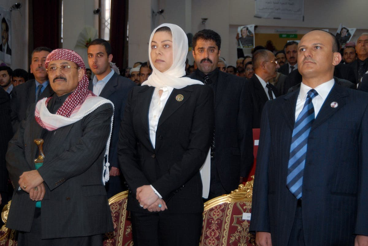 Raghad (C), the daughter of Iraq's late former president Saddam Hussein, attends a memorial service held in the Yemeni capital Sanaa on the 40th day after his execution , 07 February 2007. (AFP)