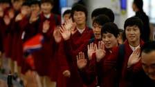 North Korean football soccer teams in Japan for tournament