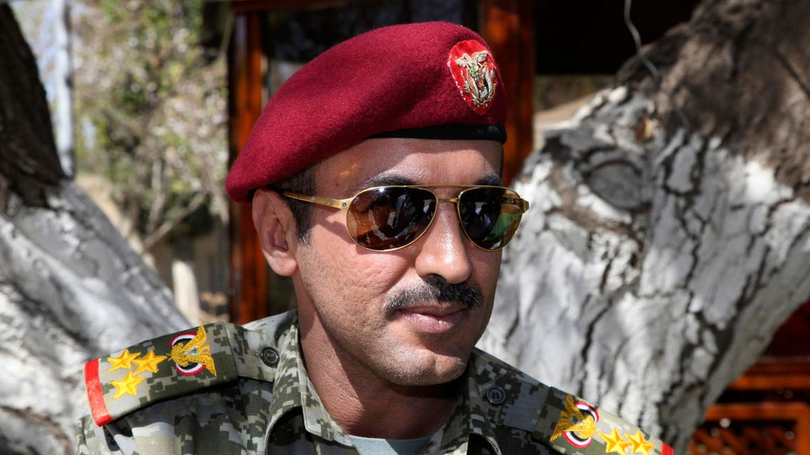 Brigadier General Ahmed Saleh, the son of Yemen's ex-president Ali Abdullah Saleh, is seen at the presidential palace in Sanaa in this February 19, 2011 file photo. (Reuters)