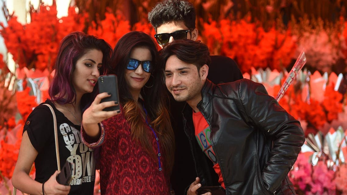 The arrival of 3G and 4G in Pakistan in 2014 and a massive surge in the sale of smartphones has seen social media use surge. (AFP)