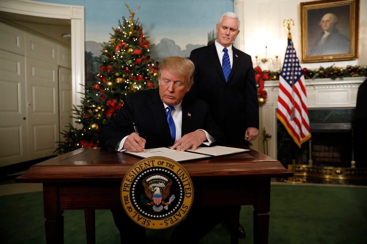 ترمب يوقع قرار نقل السفارة الأميركية إلى القدس