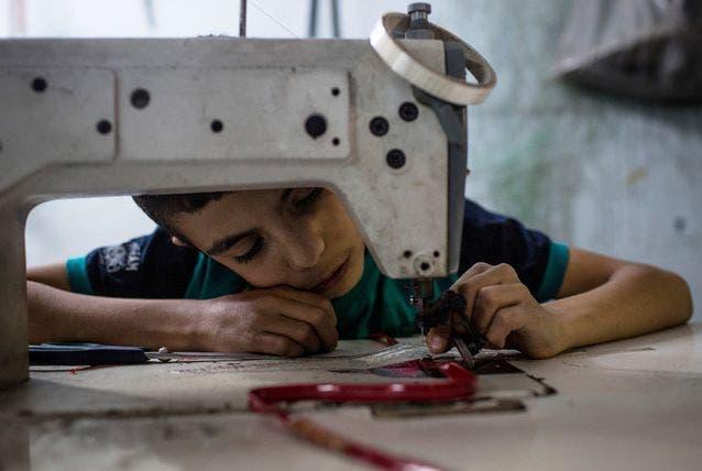 أطفال سوريون يعملون في تركيا