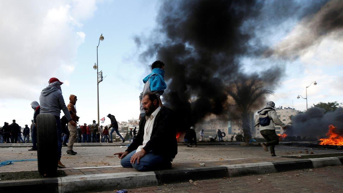 احتجاجات فلسطينية ضد قرار ترمب