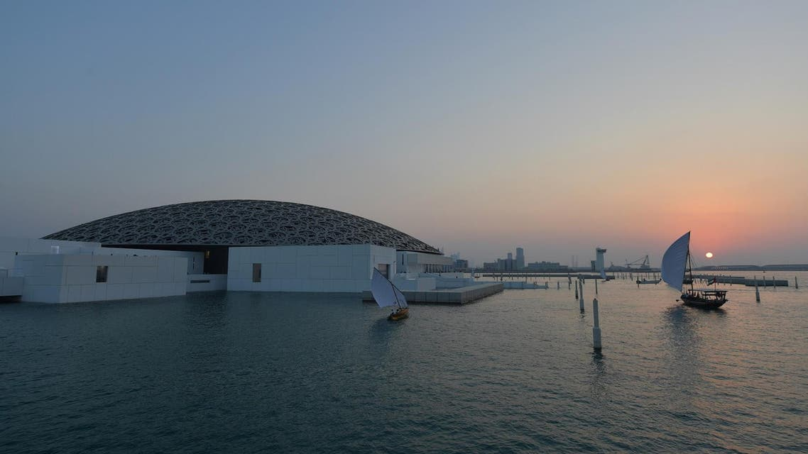 The Louvre Abu Dhabi Museum designed by French architect Jean Nouvel during its official opening to the public on Saadiyat island in Abu Dhabi on November 11. (AFP)