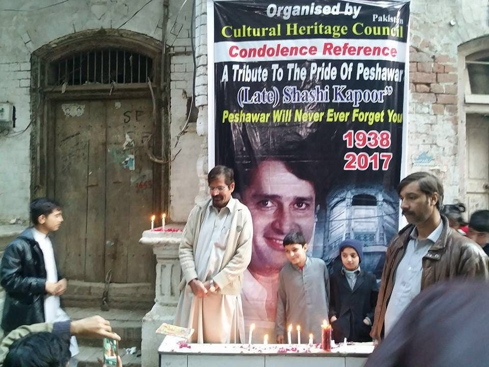 "Pictures circulating in social media show people gathered to honor Kapoor as the ""Pride of Peshawar"". (Social media)"