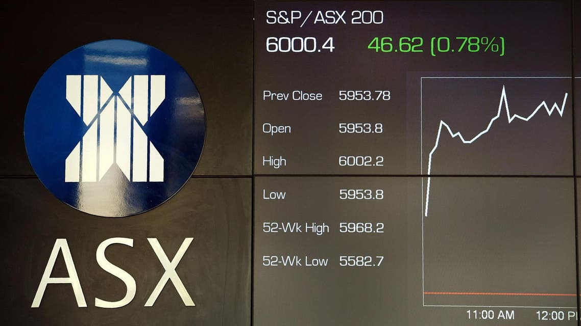 File photo dated November 7, 2017 shows a board at the Australian Securities Exchange (ASX) in Sydney. (AFP)