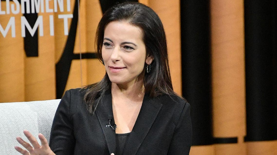 """SAN FRANCISCO, CA - OCTOBER 20: President of the Goldman Sachs Foundation, Dina Powell, speaks onstage during """"The Next Wave of Philanthropy"""" at the Vanity Fair New Establishment Summit at Yerba Buena Center for the Arts on October 20, 2016 in San Francisco, California. Mike Windle/Getty Images for Vanity Fair/AFP  Mike Windle / GETTY IMAGES NORTH AMERICA / AFP"""