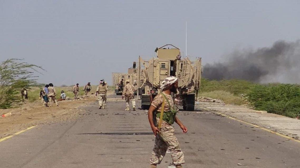 الجيش اليمني أثناء دخوله مدينة الخوخة