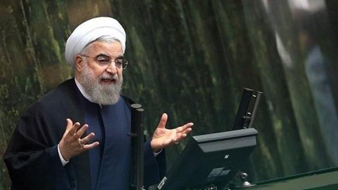 روحاني في البرلمان الإيراني