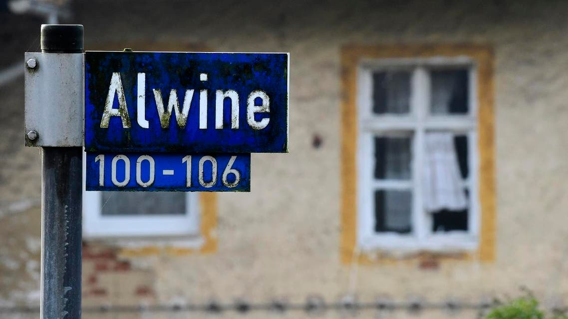 Alwine's dozen buildings, plus sheds and garages, went under the hammer at an auction in Berlin, with a starting price of 125,000 euros. (AFP)