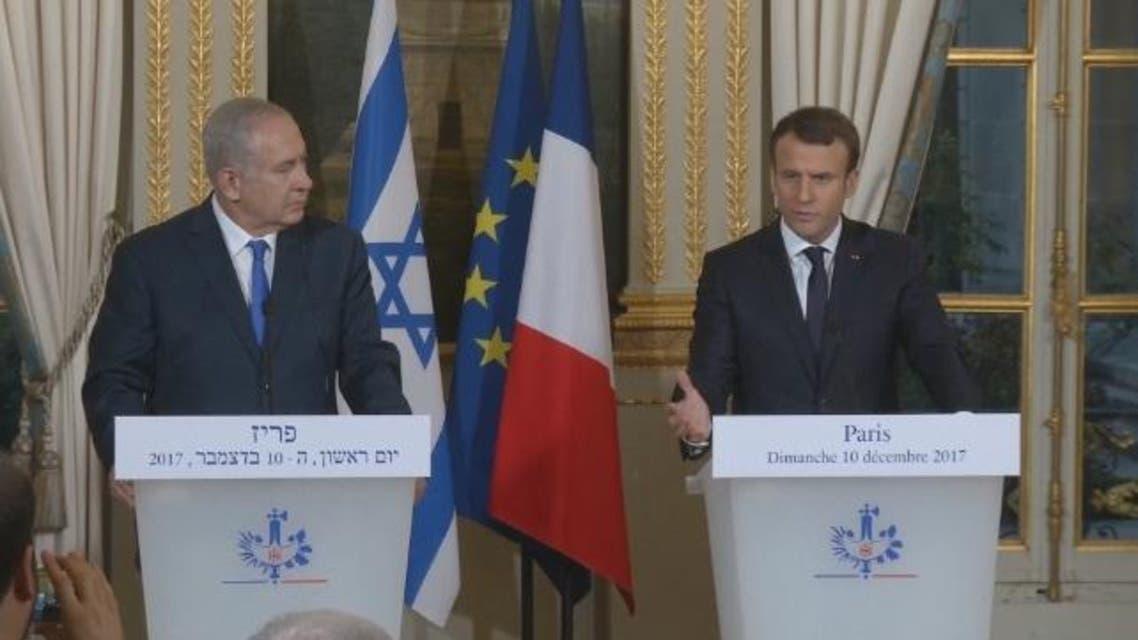 Macron and Natanyahu