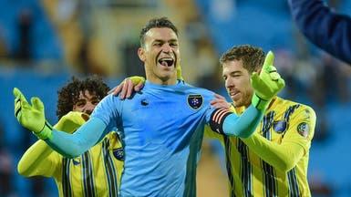 الحضري سعيد بتسجيل هدفه الأول في الدوري