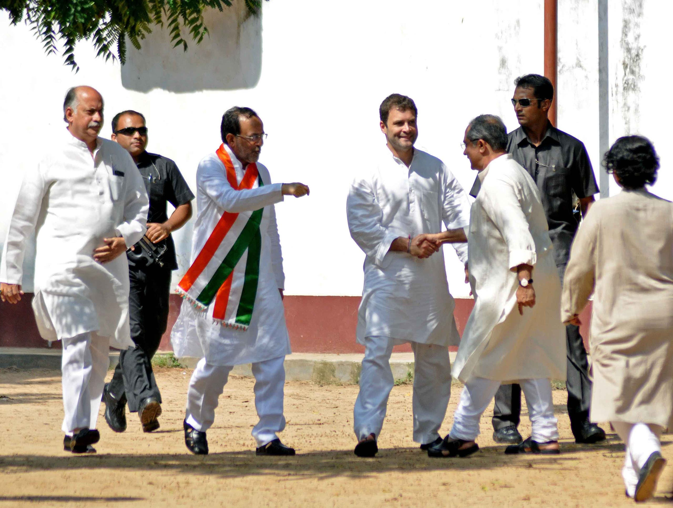 Rahul Gandhi's whirlwind campaigning may help the Congress win the day. (Supplied)