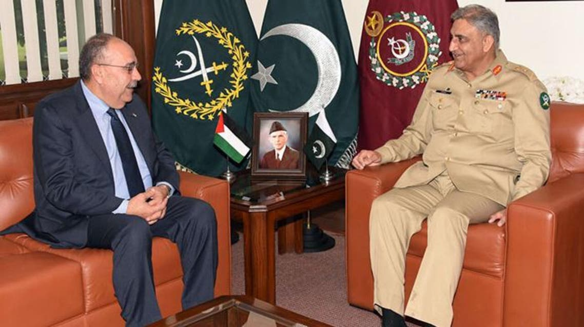 Pak army cheif and palestnians ambassidor