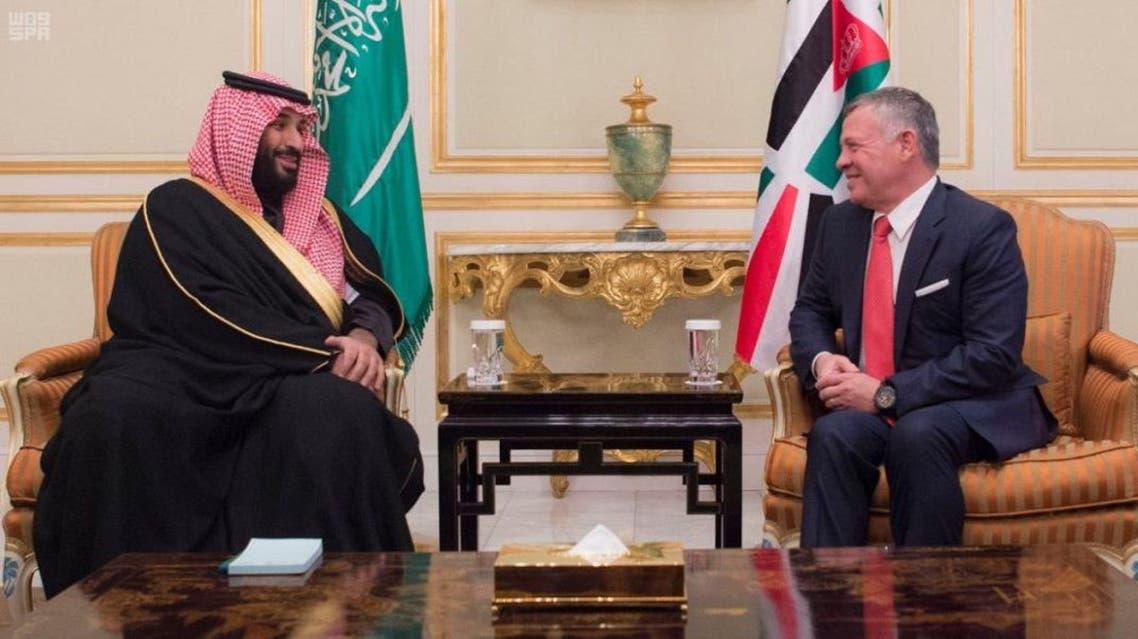 الملك عبدالله و ولي العهد السعودي
