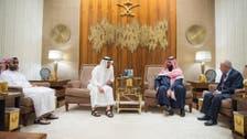 Saudi and UAE leaders meet Yemen Islah party chairman