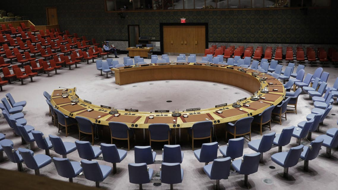 The chairs of the UN Security Council sit empty before a meeting to discuss a North Korean missile launch at UN headquarters in New York, U.S., November 29, 2017. REUTERS/Lucas Jackson