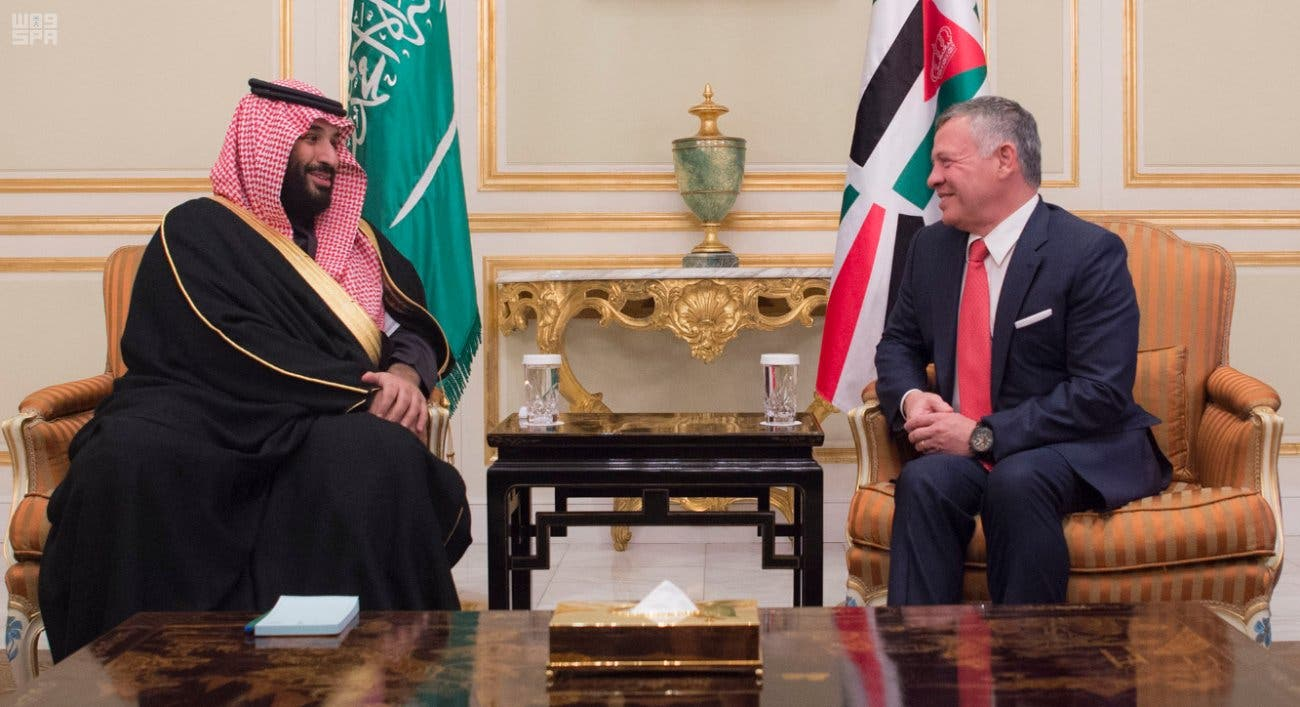 Crown Prince Muhammad Bin Salman, deputy premier and minister of defense, also met King Abdullah. (SPA)