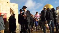 سیکڑوں یہودی آباد کاروں کا مسجد اقصی کے صحن پر دھاوا