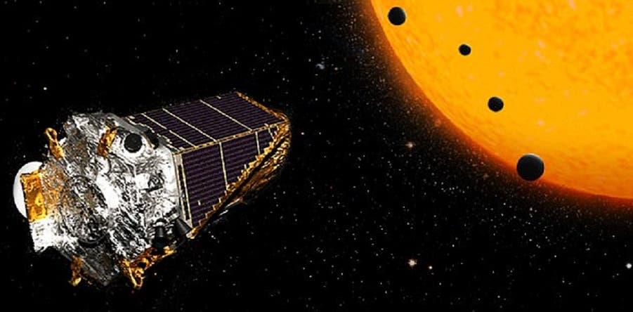 في كيبلر جهاز يقيس الاختلاف الحاصل بضوء النجم لدى مرور كواكب محيطة به، فيكتشفها