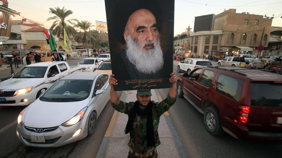 Hashed militia, al-Sistani. (AFP)