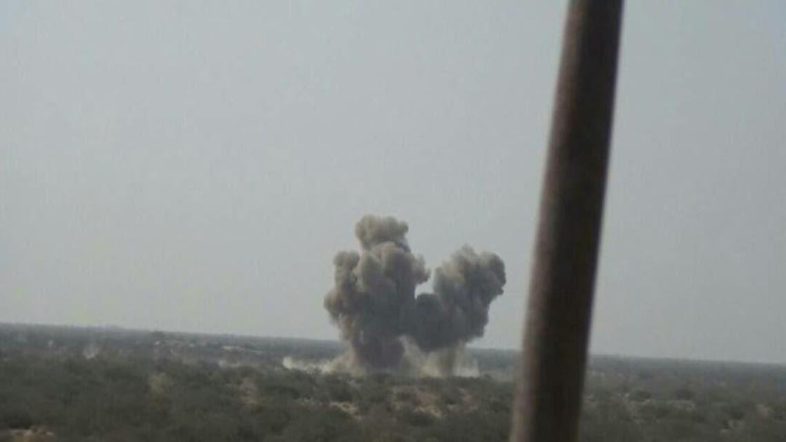 غارة للتحالف العربي على مخزن أسلحة للحوثيين في حجة