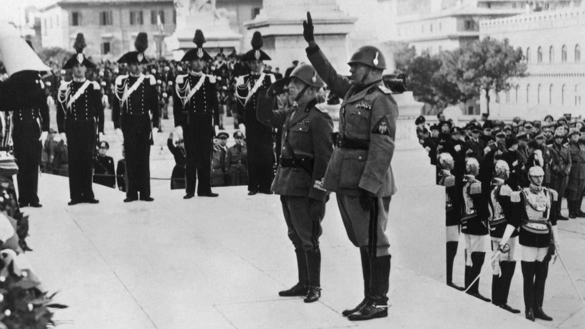 Mussolini King Emmanuel AFP