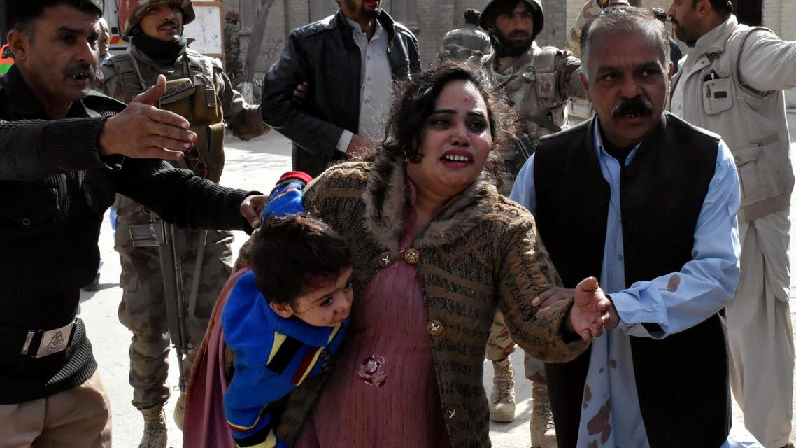 Pakistan church bombing. (Reuters)
