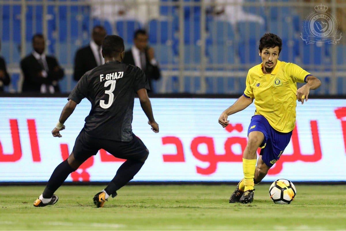 خالد الغامدي خلال مباراة سابقة مع النصر