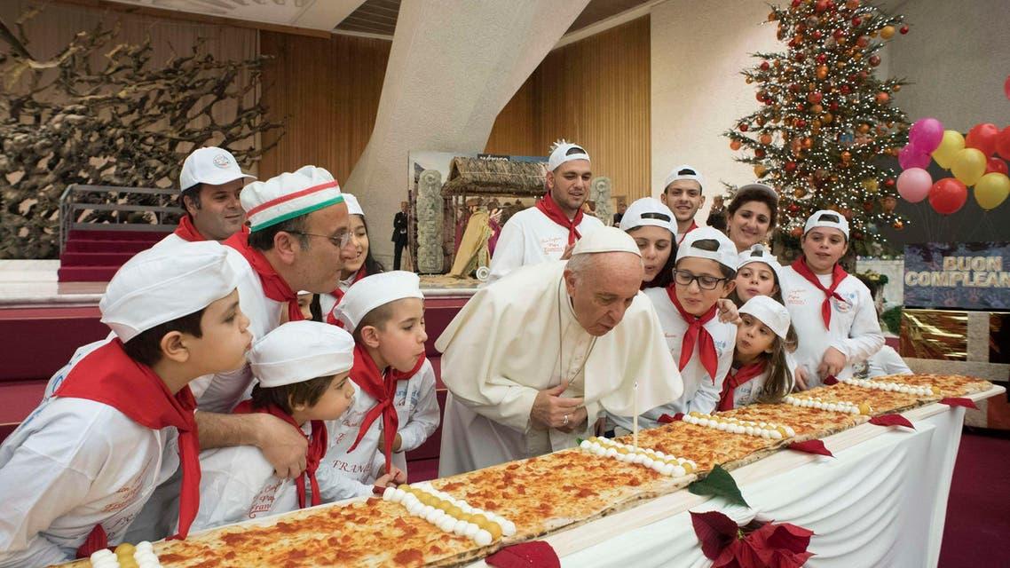 Pope Francis birthday. (AP)