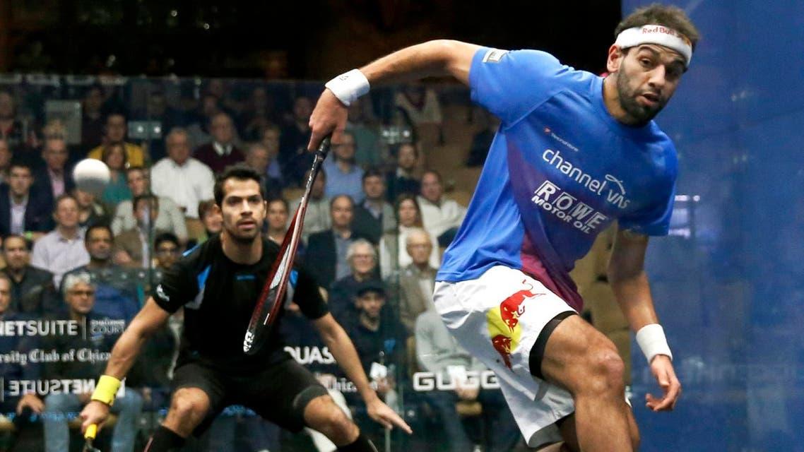 Mohamed Elshorbagy of Egypt, the new world squash champion. (File photo: AP)
