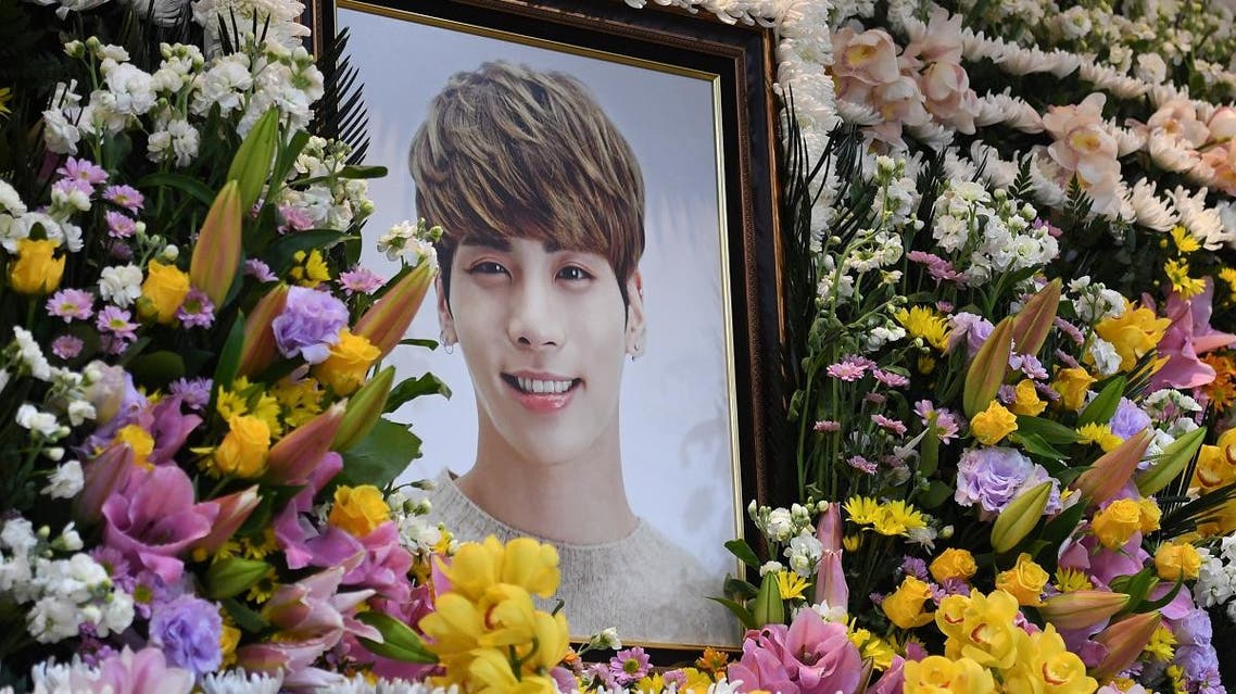 A portrait of Kim Jong-hyun, the lead singer of top South Korean boy band SHINee, is seen on an altar during a memorial service for him in Seoul, South Korea. (Reuters)