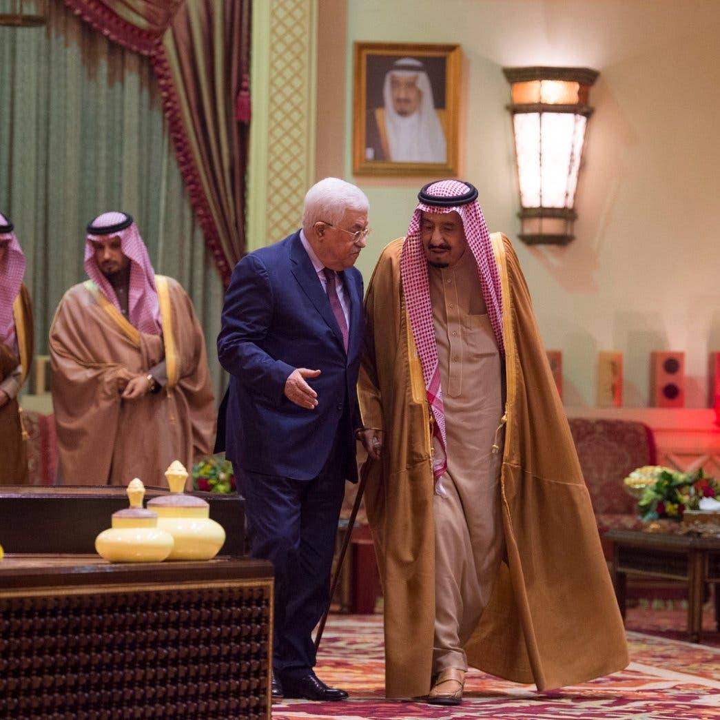 King Salman assures Palestinian President Abbas of Saudi Arabia's support