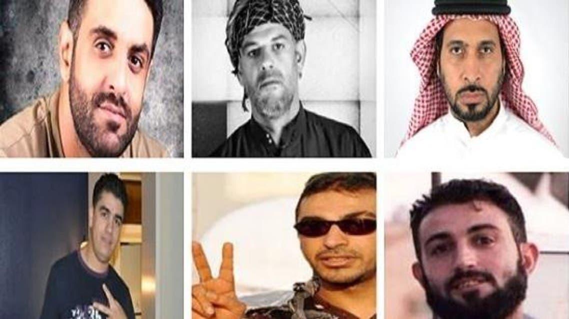 صورة جماعية لإرهابيي أسرة الفرج