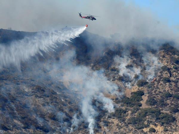 فرق الإطفاء احتوت الحريق بجنوب كاليفورنيا بنسبة 60%