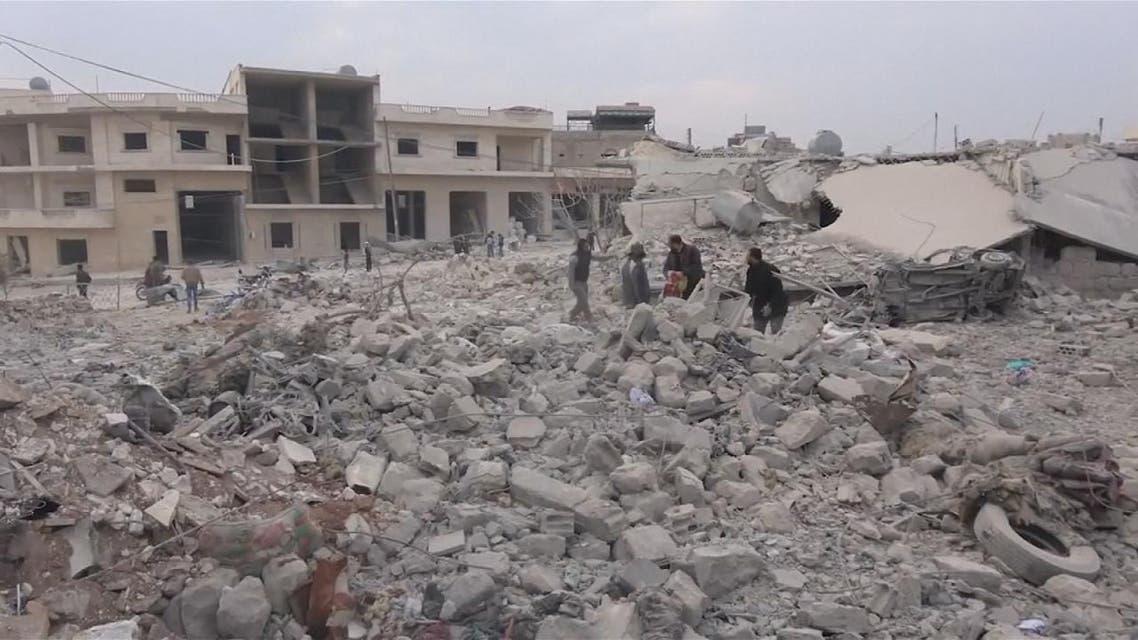 THUMBNAIL_ النظام يرتكب مجزرة جديدة في ريف إدلب