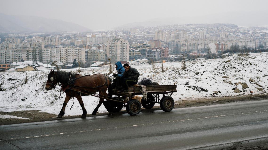 عربة يجرها حصان في صوفيا