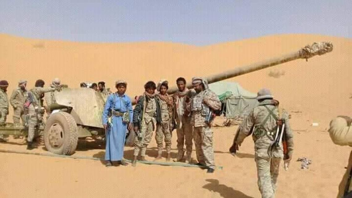 الجيش اليمني في خب الشعف بالجوف