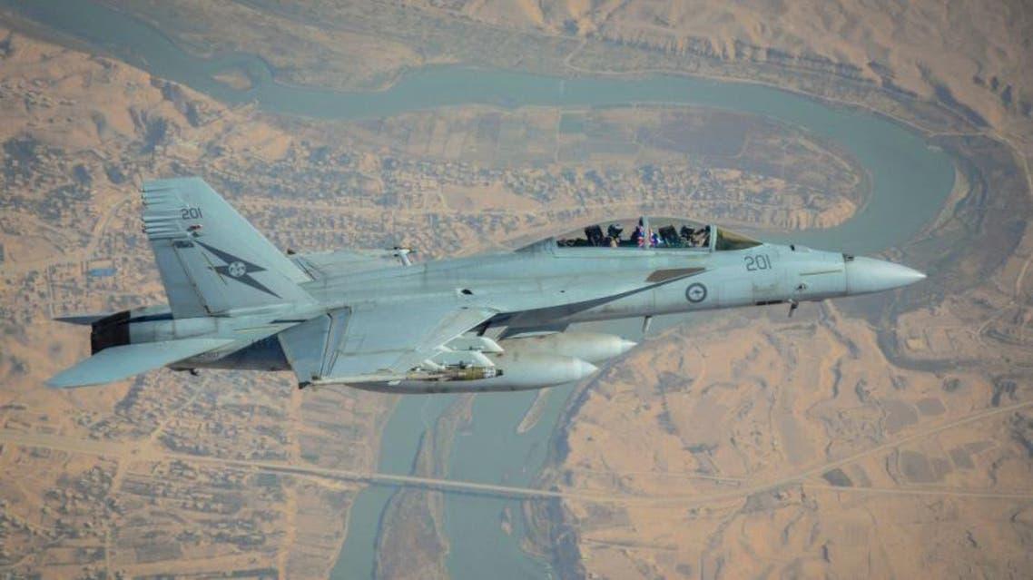 An RAAF F/A-18F Super Hornet flies over Rawah, Iraq. (Photo courtesy: Australian Department of Defense)