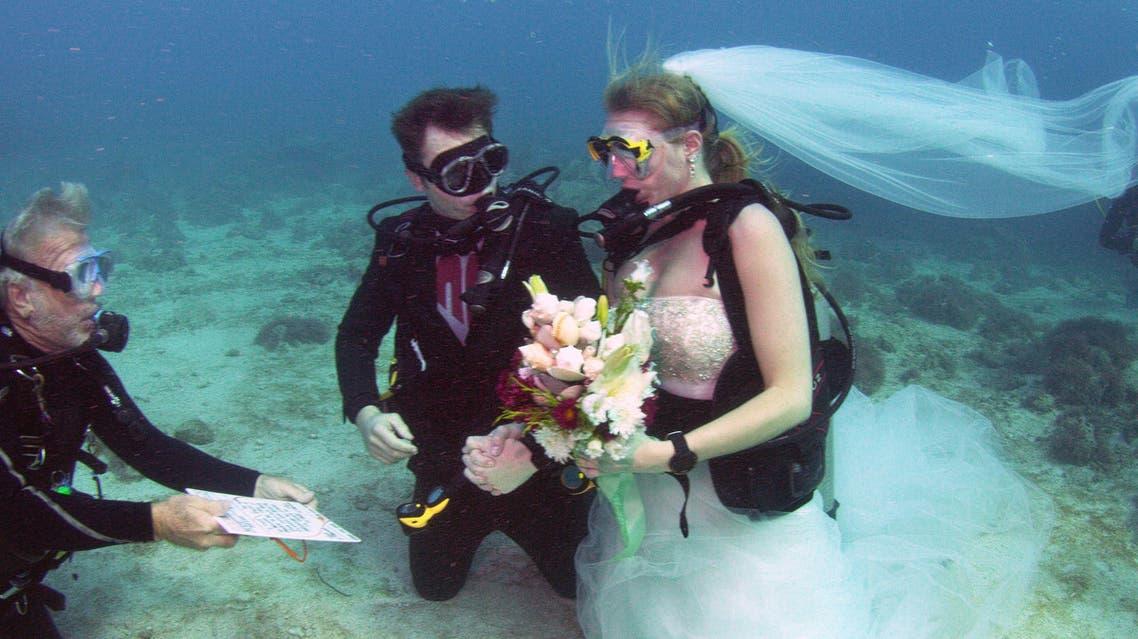 زواج تحت الماء