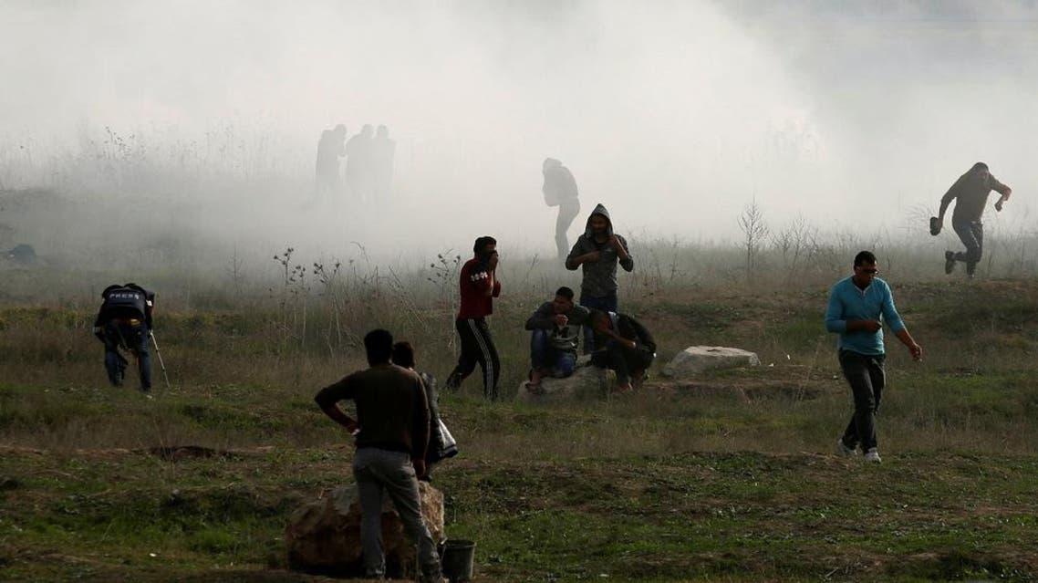 Palestinian protest (Reuters)