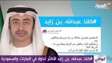 سوشل میڈیا پر اماراتی وزیر خارجہ کی حمایت میں مہم